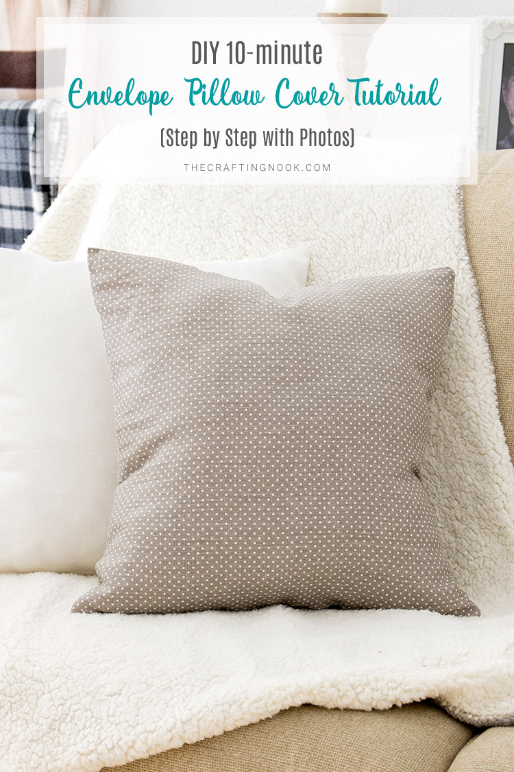DIY 10-minute Envelope Pillow Cover (Step by Step with Photos)