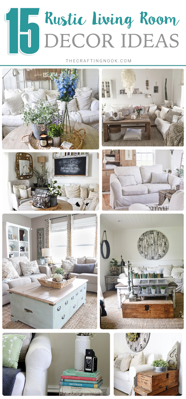 15 Cozy Rustic Living Room decor Ideas | The Crafting Nook