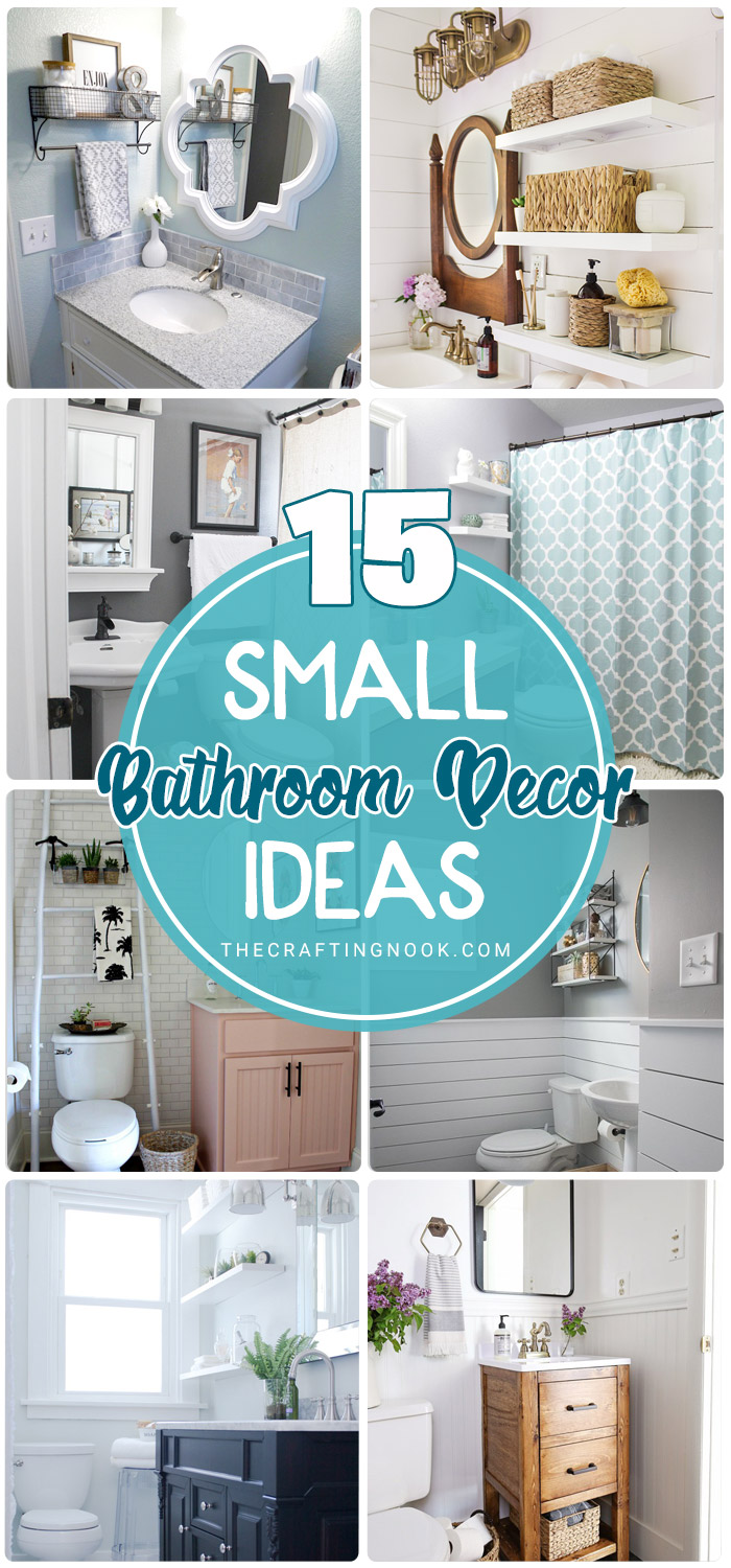 15 Gorgeous Small Bathroom Decor Ideas The Crafting Nook