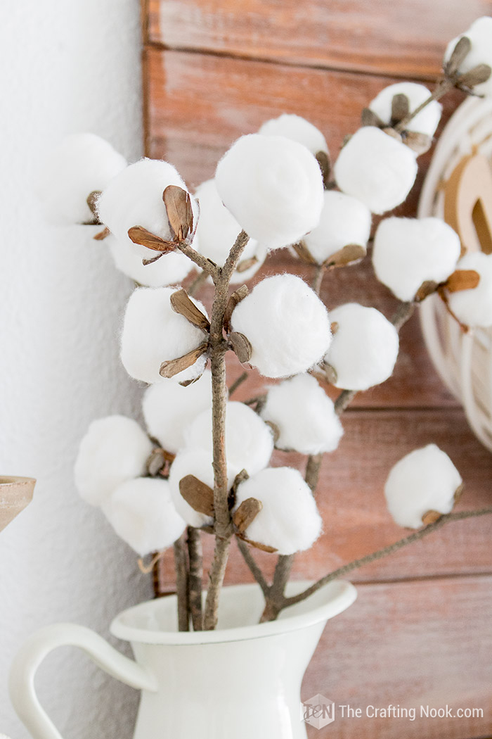DIY Faux Cotton Stems Tutorial