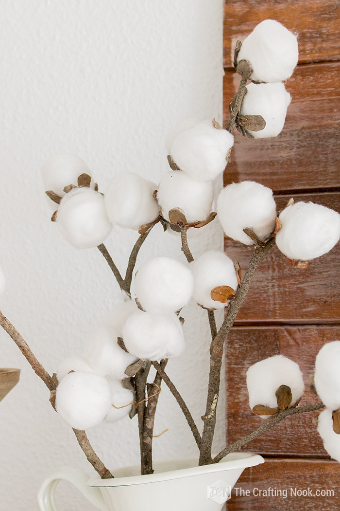 DIY Easy Cotton Stems Tutorial