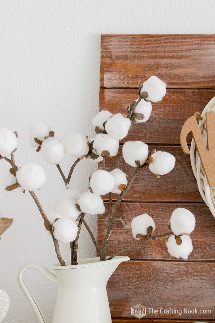 DIY Easy Faux Cotton Stems Tutorial