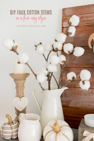 DIY Faux Cotton Stems
