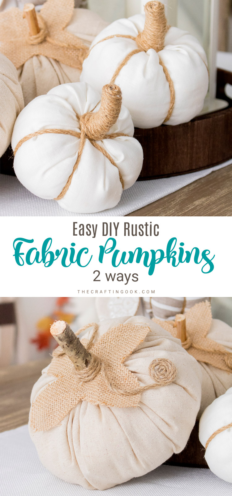 Rustic Fabric Pumpkins Tutorial
