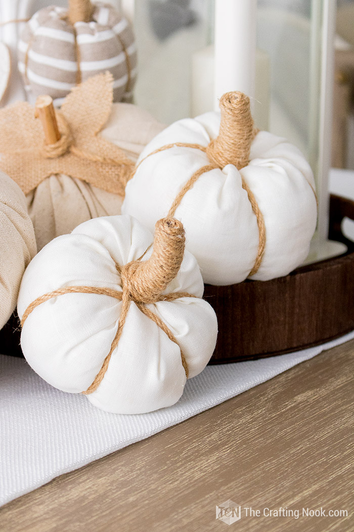 Diy Rustic Fabric Pumpkins Quick And Easy The Crafting Nook