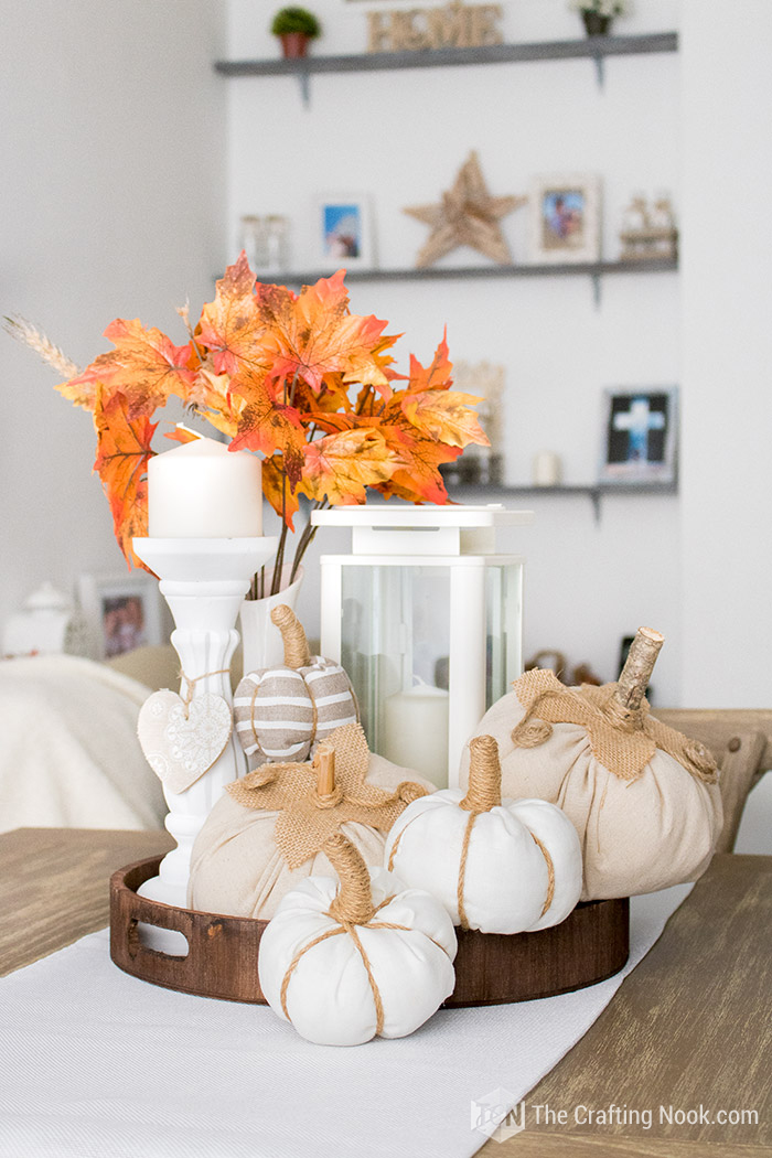 DIY Rustic Fabric Pumpkins