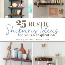 25 DIY Rustic Shelving Ideas