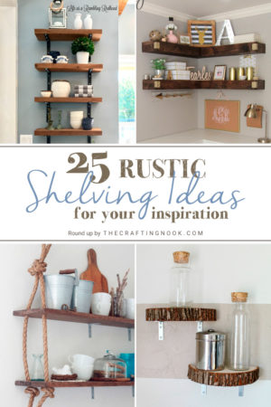 25 DIY Rustic Shelving Ideas to try now