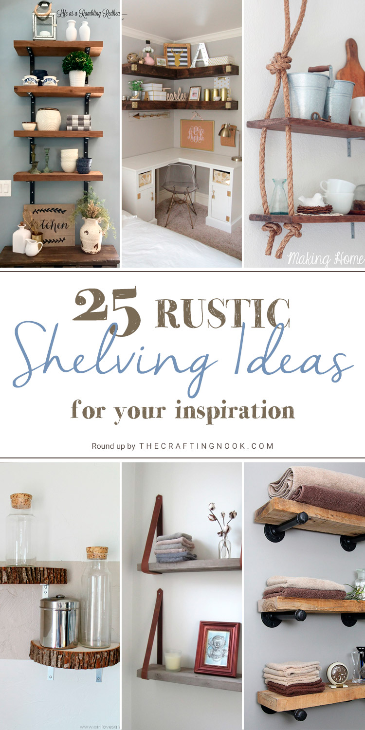 Creative 25 DIY Rustic Shelving Ideas
