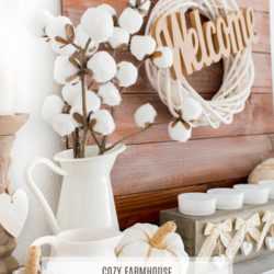 Farmhouse Fall Mantel Decor