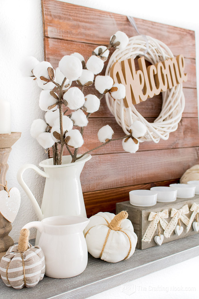 Farmhouse Fall Mantel Decoration