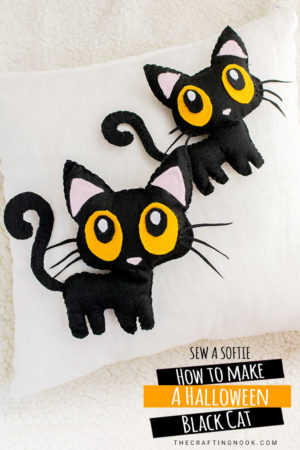 Halloween Black Cat Softie Pattern (and Video Tutorial)