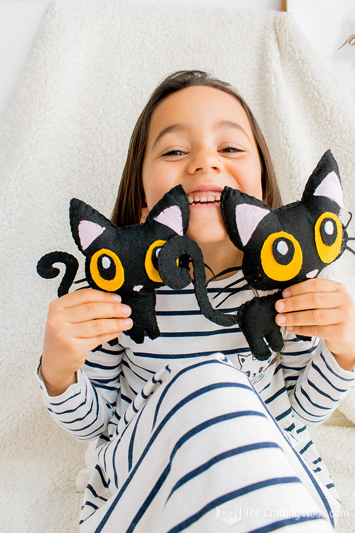 Free Halloween Black Cat Softie Pattern