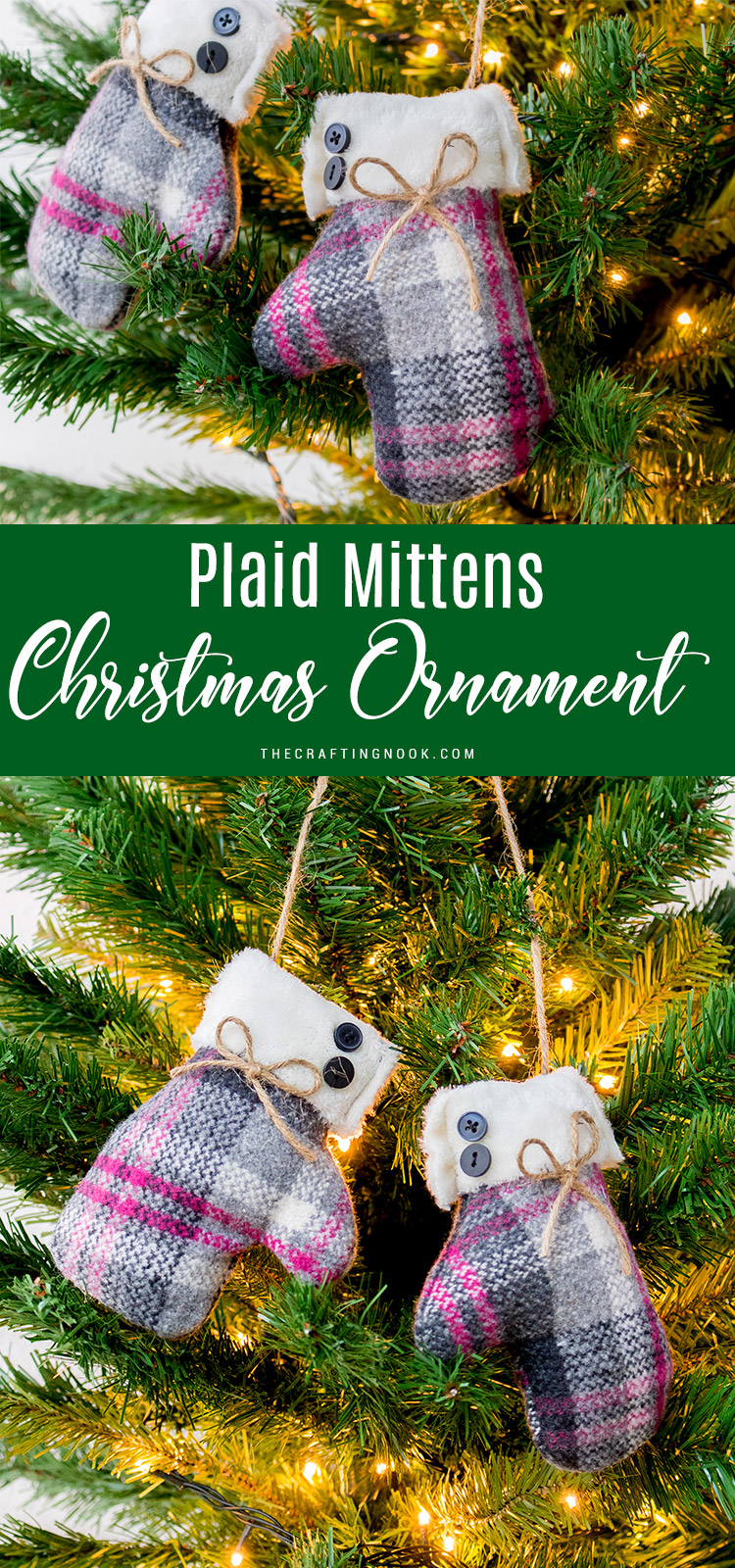 Mittens Christmas Ornament Tutorial