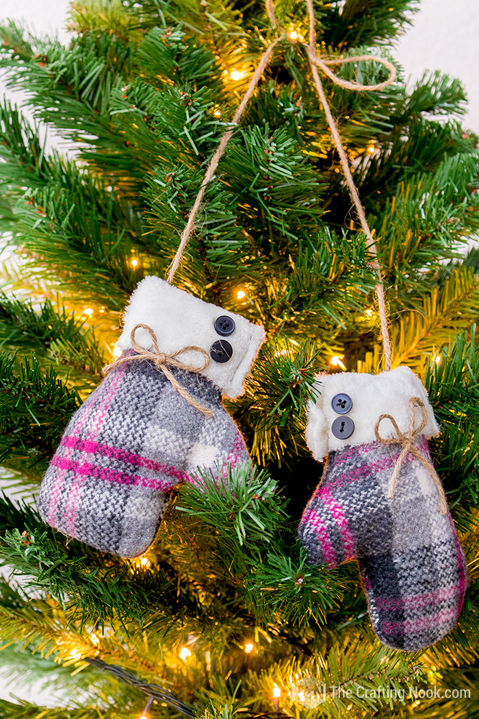 Easy DIY Mittens Christmas Ornament