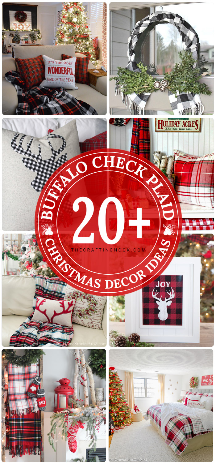Buffalo Plaid Christmas Decor Ideas (Mostly DIY)
