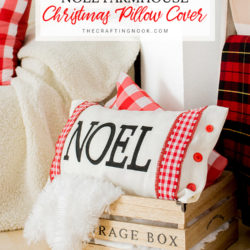 Noel Modern Farmhouse Christmas Pillow Cover