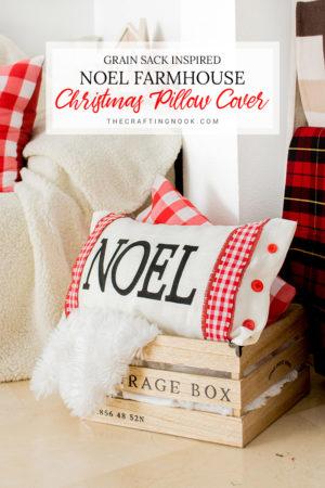 Noel Modern Farmhouse Christmas Pillow Cover