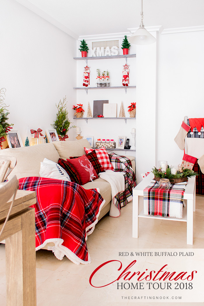 Gorgeous Red and White Buffalo Plaid Christmas Home Tour