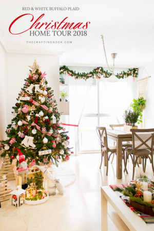 Red and White Buffalo Plaid Christmas Home Tour 2018