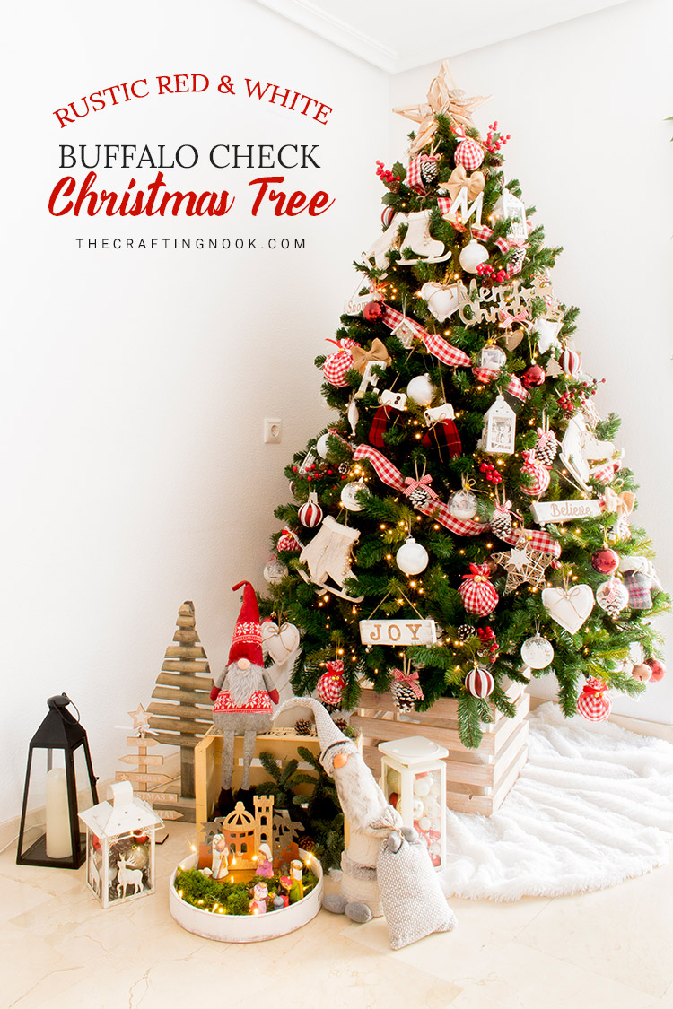 Rustic Red And White Buffalo Plaid Christmas Tree The Crafting Nook