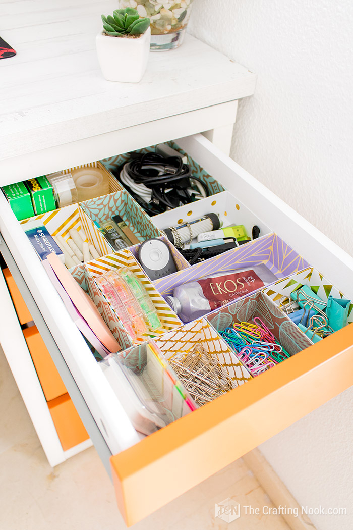DIY Drawer Dividers Desk Organization