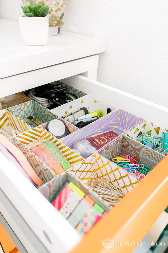 DIY Drawer Dividers for Desk Organized