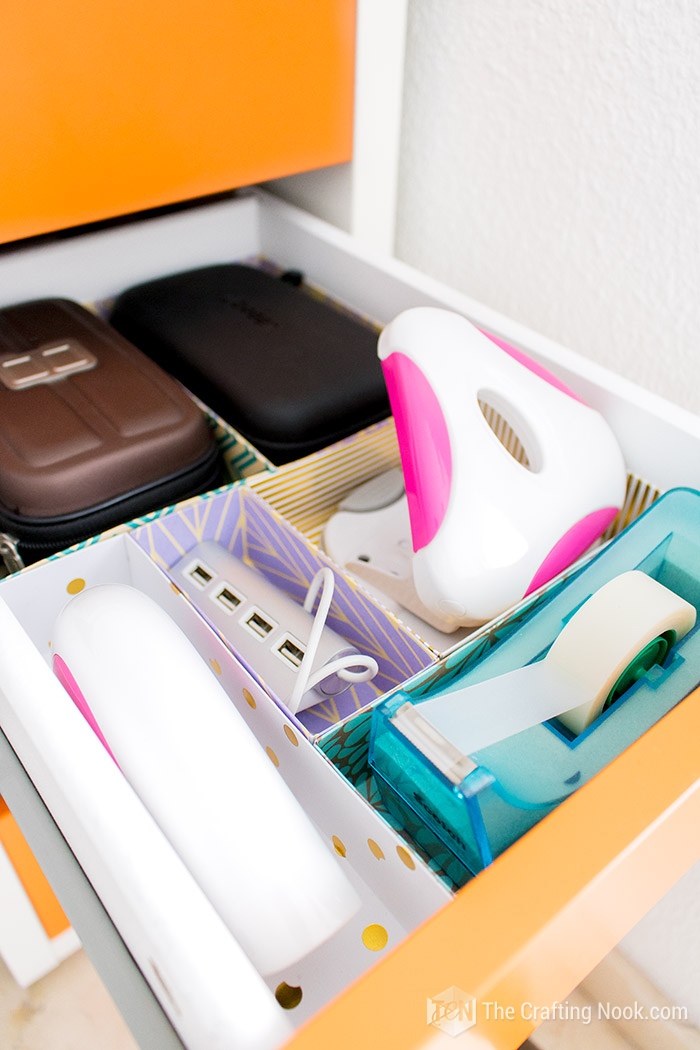 DIY Drawer Dividers for Desk Organizing Supplies