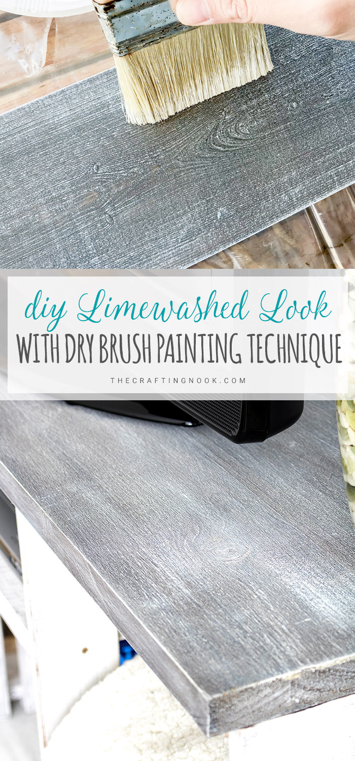 DIY Limewashed look with Dry brush painting technique Process