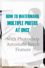 How to Add Watermark to Multiple Photos at Once with Photoshop Automate Batch