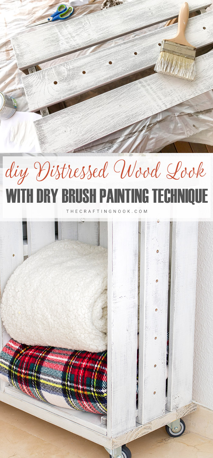 How to Create Distressed Wood Look with Dry Brush Painting Technique Easy and Fun