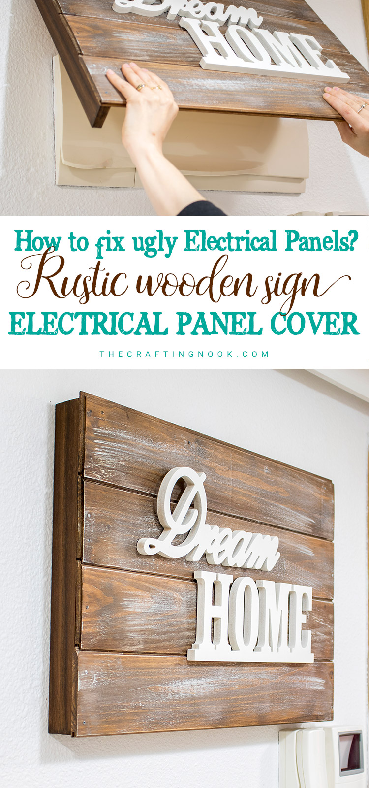 Rustic Wooden Sign Electrical Panel Cover