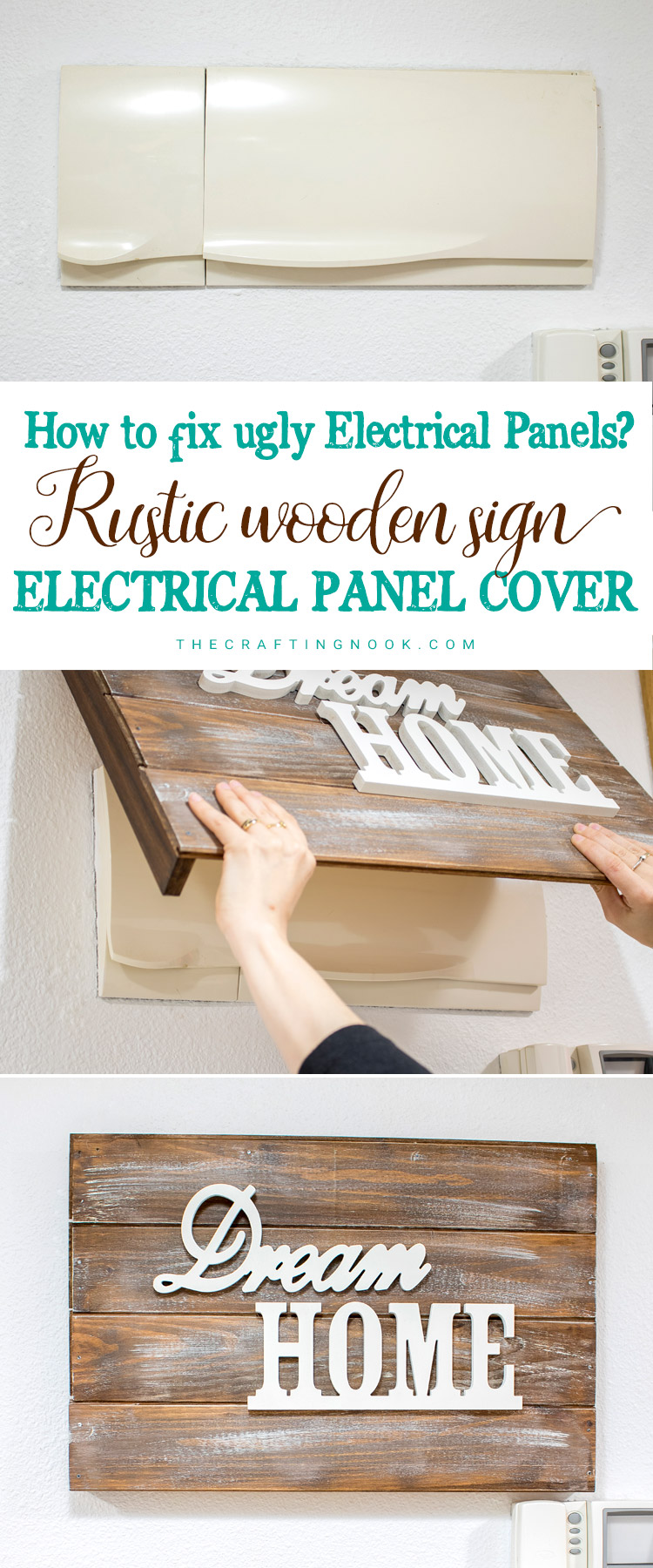 Rustic Wooden Sign Electrical Panel Cover How To The Crafting Nook