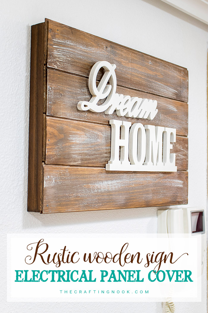 Rustic Wooden Sign Electrical Panel Cover Tutorial