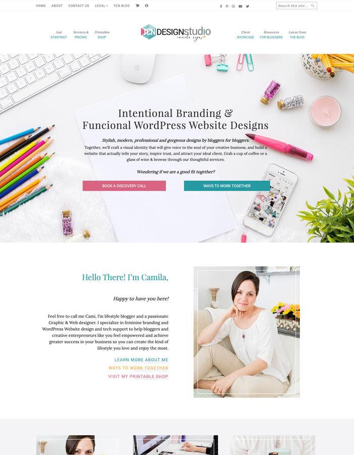 TCN Design Studio Website 2020