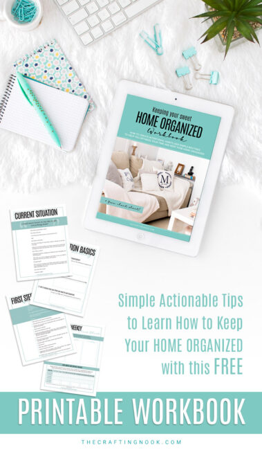 Download free workbook to keep Home Organized