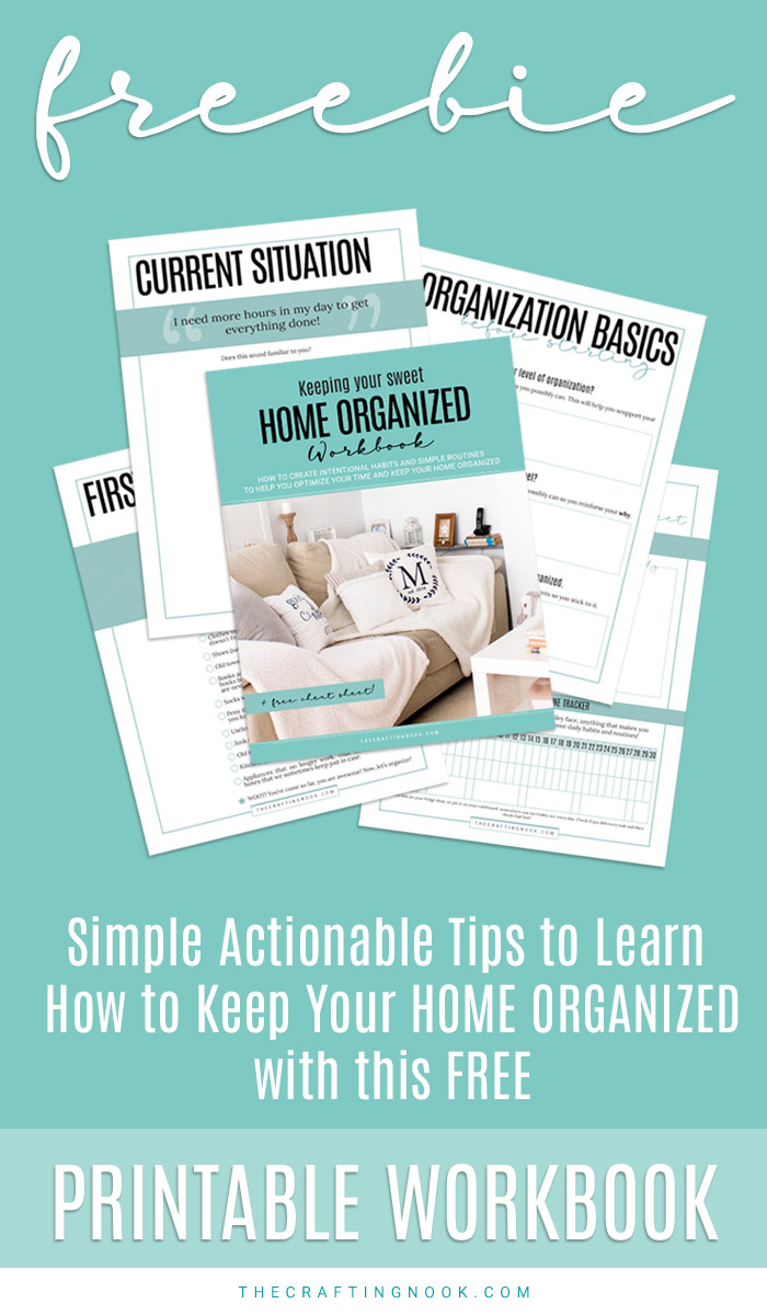 Home organized: Download this free Workbook!