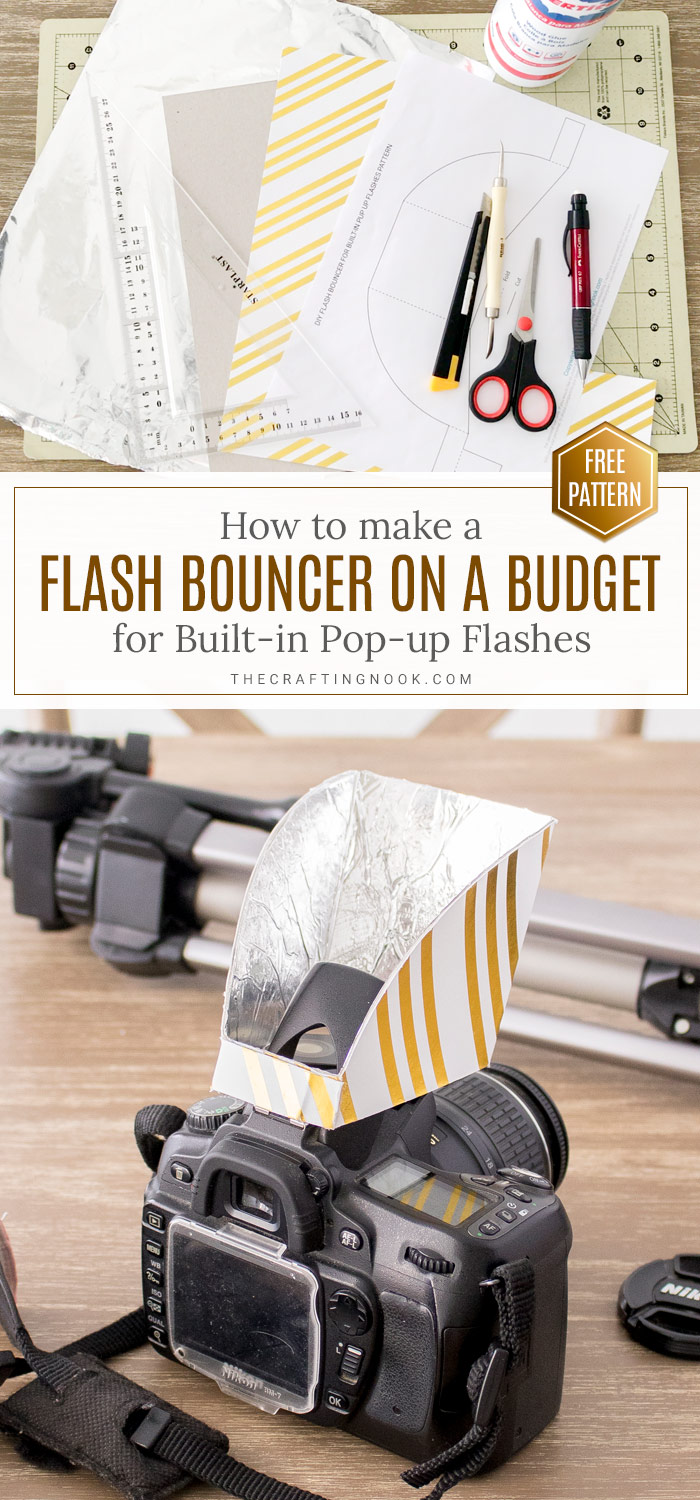 How to make Flash Bouncer for DSLR Built-in flash PIN