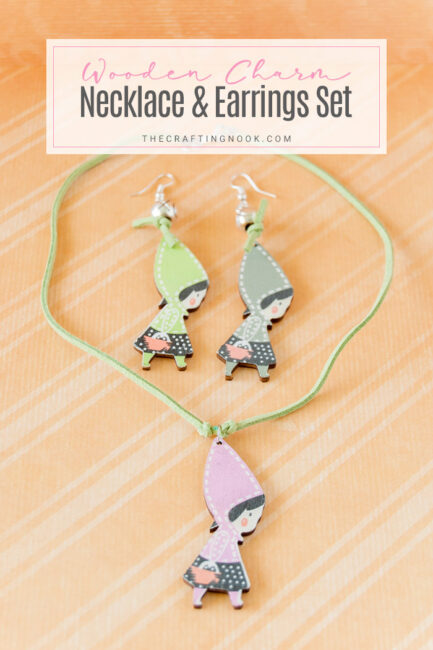 How to Make Wooden Charm Necklace and Earrings Set