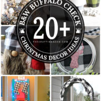 20+ Black and White Buffalo Check Christmas Decor