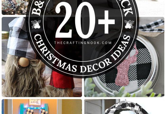 20+ Black and White Buffalo Check Christmas Decor