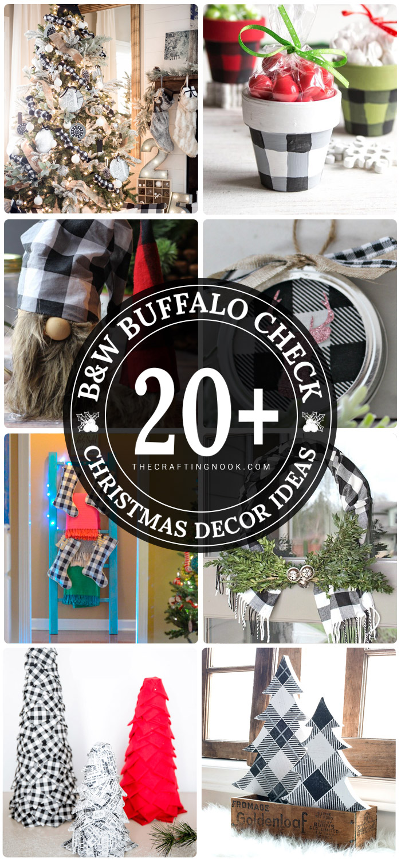 20+ Black and White Buffalo Check Christmas Decor Ideas