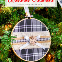 Buffalo Plaid Embroidery Hoop Christmas Ornament