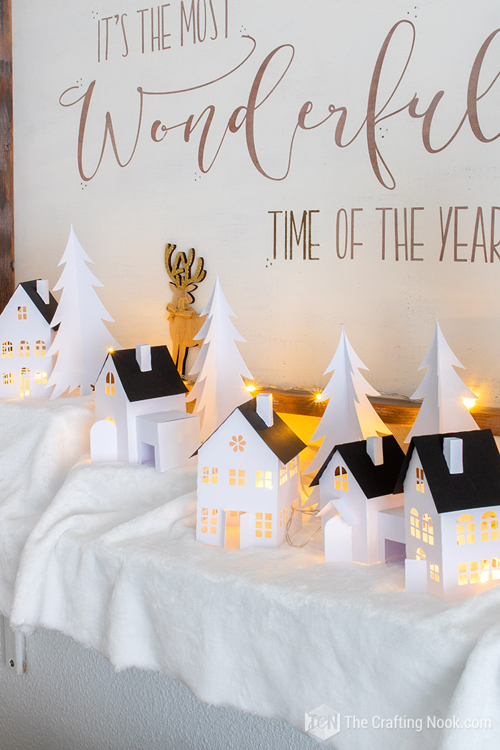 DIY Cute Paper Christmas Village