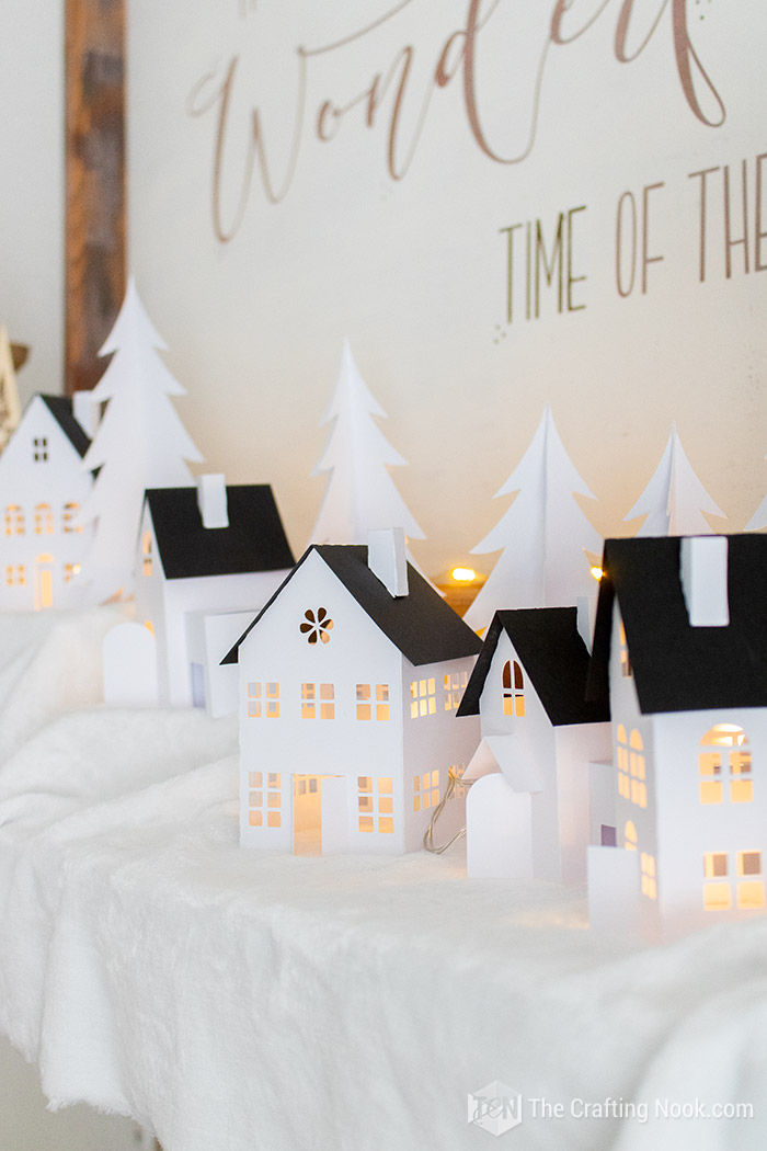 DIY Easy Paper Christmas Village