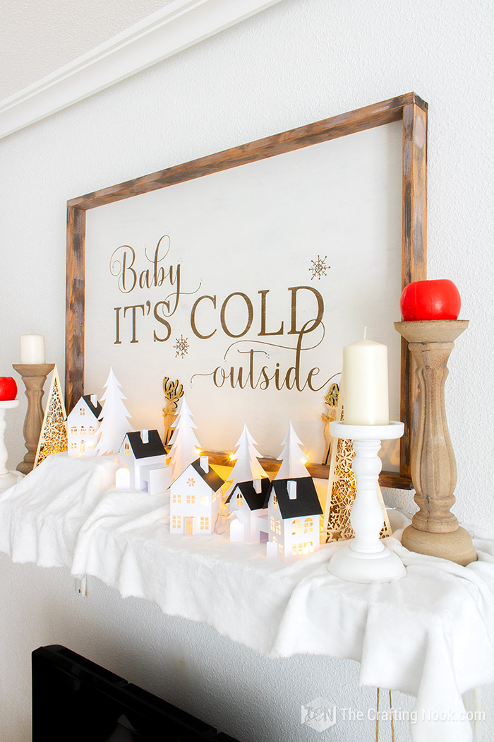 Gorgeous DIY Rustic Oversized Reversible Christmas Wood Sign