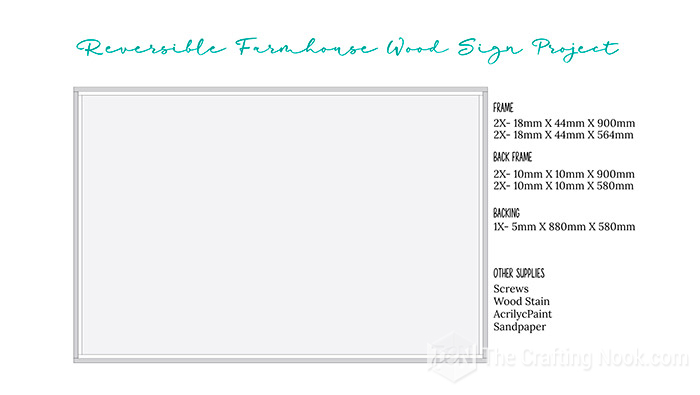 Wood Sign Plan with measurements