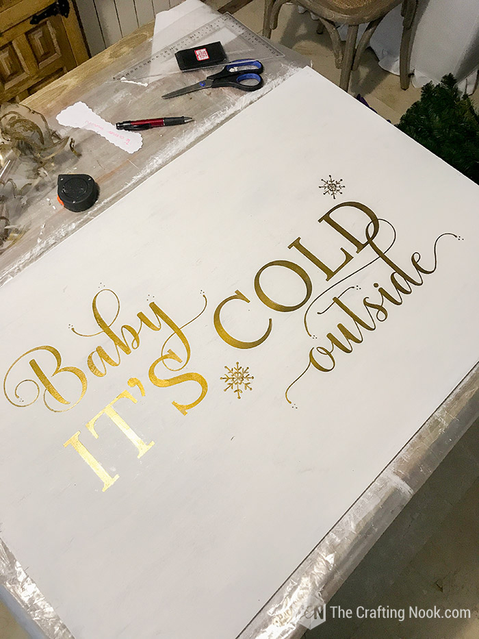 Cute Rustic Oversized Reversible Christmas Wood Sign