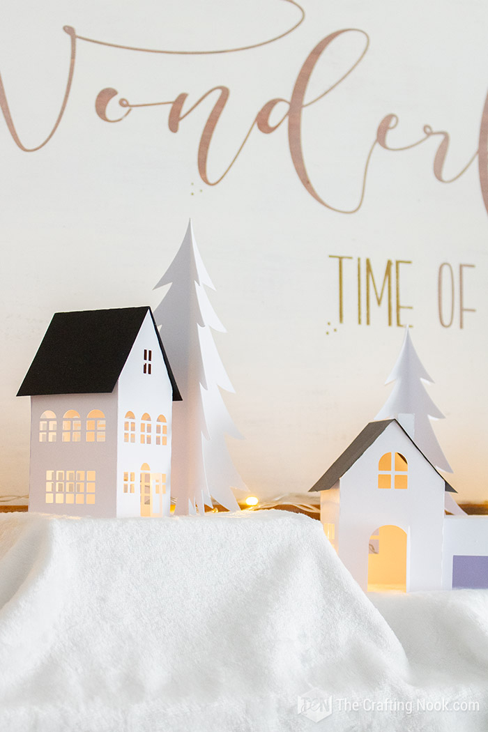 Paper Christmas Village Tutorial