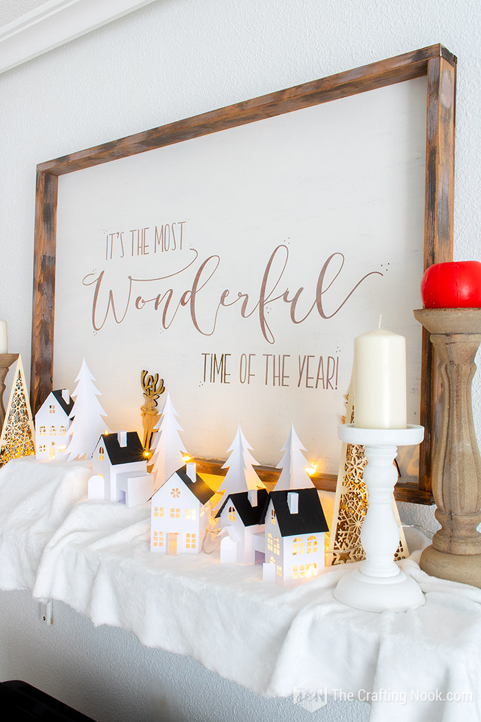 Decorative Rustic Oversized Reversible Christmas Wood Sign